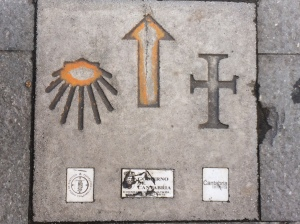 The Camino provides arrows to point you in the right direction