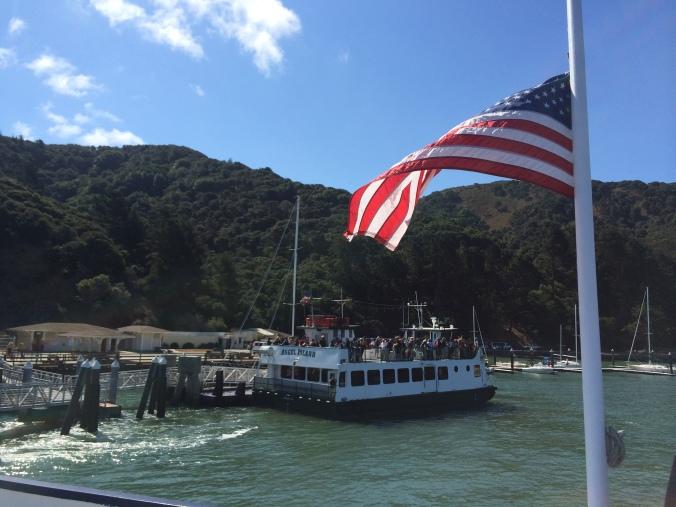 American Flag at Angel Island Ferry