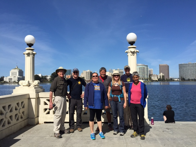 Camino walking group at Lake Merritt