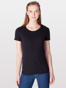 American Apparel 2102 Fine Jersey Short Sleeve Women T-Shirt
