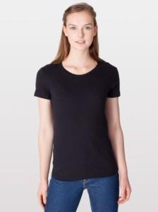American Apparel 2102 Fine Jersey Short Sleeve Women T-Shirt