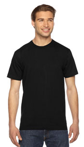American Apparel 2001 Fine Jersey Short Sleeve Men T-Shirt