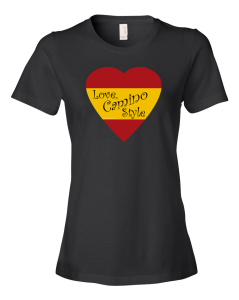 "Women's Fashion Fit T-Shirt: ""Love, Camino Style"""