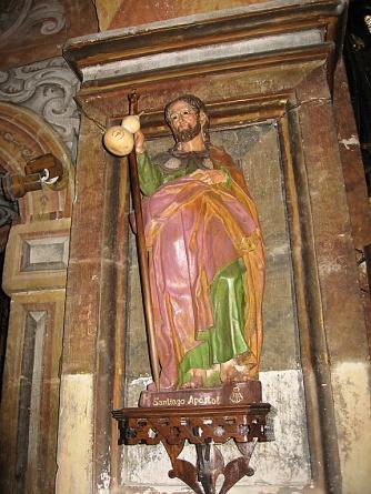 Statue of Saint James in the Basilica de Santa Maria de Los Arcos