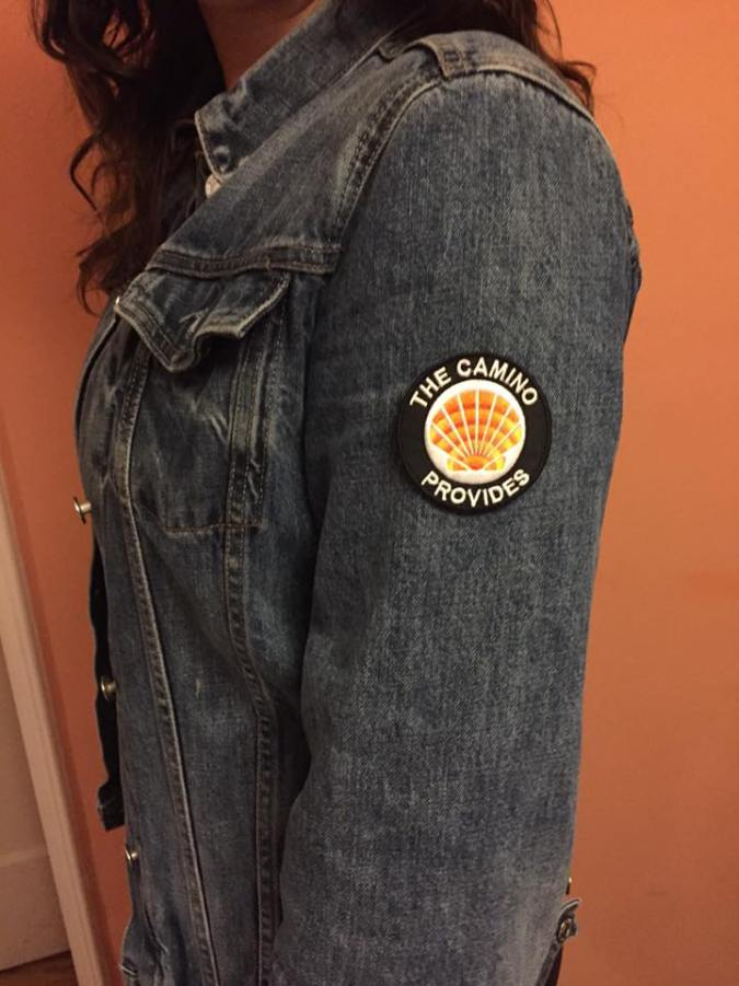 Patch on a denim jacket