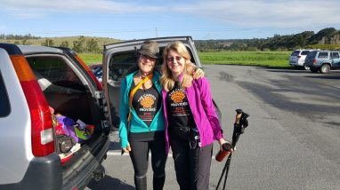 Hike coordinators Cathy Sietchik Diaz on the left and me on the right