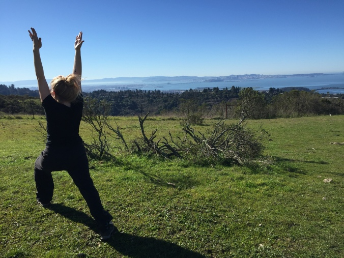 There's nothing like doing yoga with a bay view