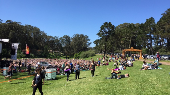 Speedway Meadows Stage with DJs, Yogis and Meditation gurus