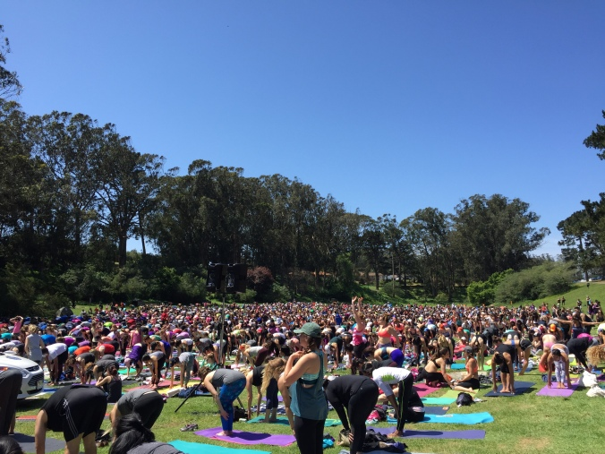 Sunday in the park with yoga