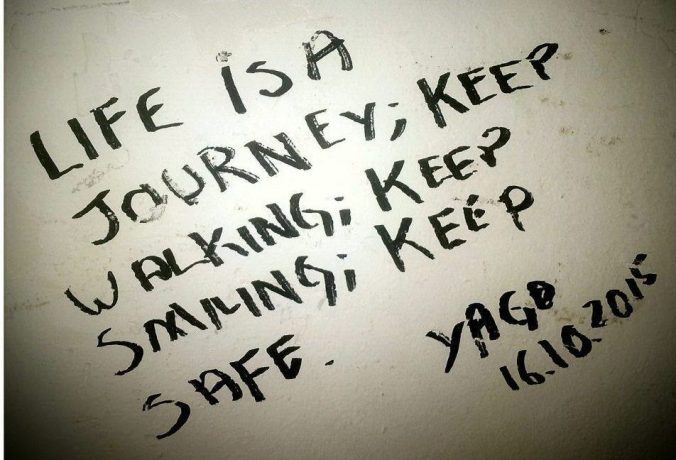 Life is a journey mantra