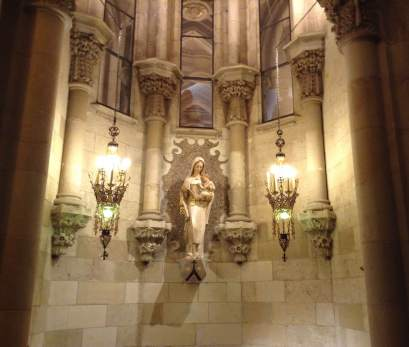 In the crypt. Lady of Mt Carmel