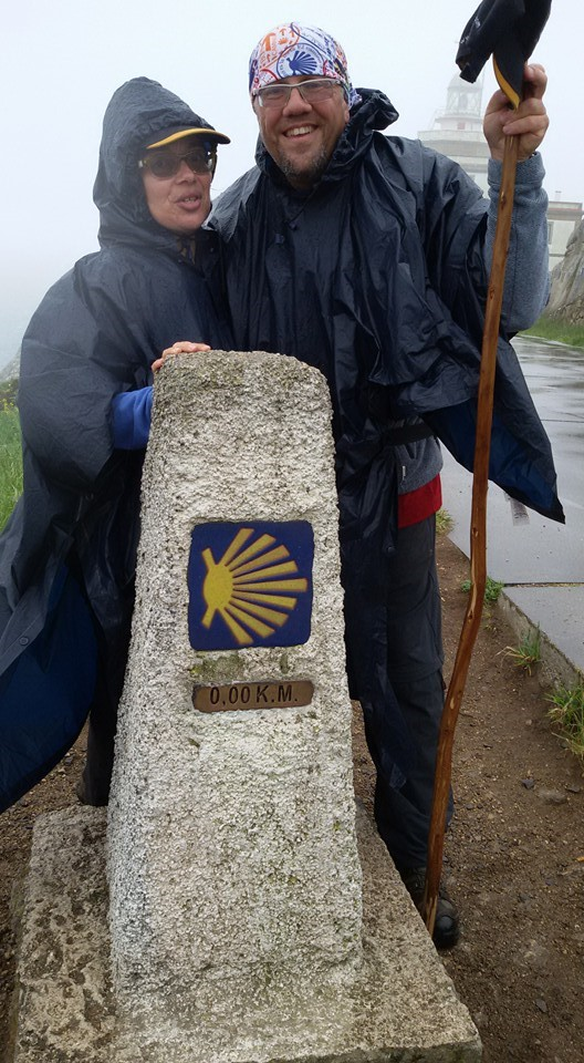 "May 2016 Finisterre at the ""0"" km Waymark"