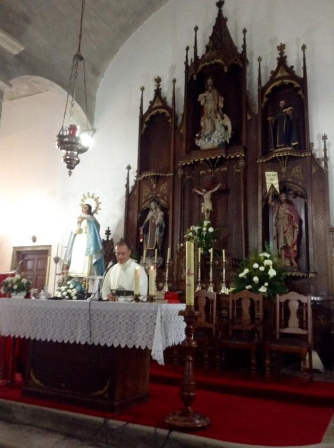 Maltese mass in the parish church of Negreira