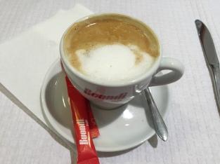 My first café com leite