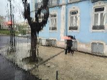 Rainy morning in lisbon