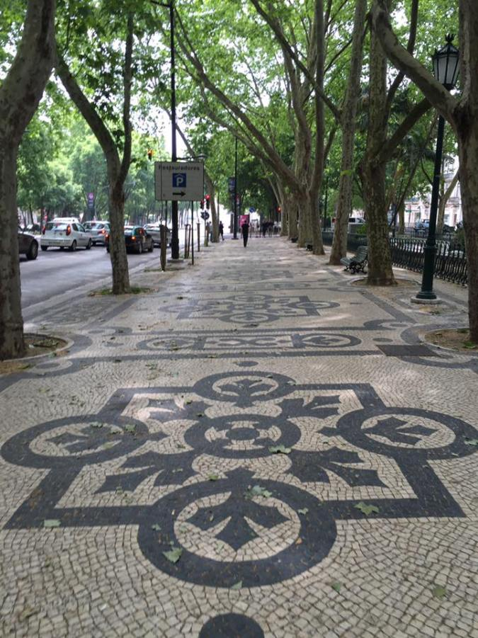 Avenida Liberdade's mosaic stone walkway was a nice way to begin.