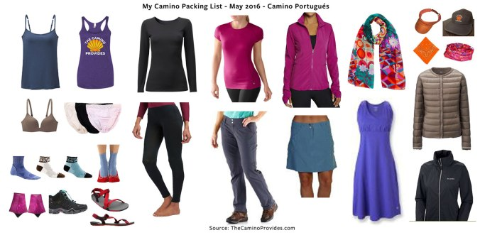 Camino Provides Packing List 2016