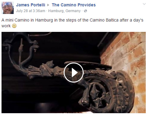 A mini Camino in Hamburg in the steps of the Camino Baltica after a day's work