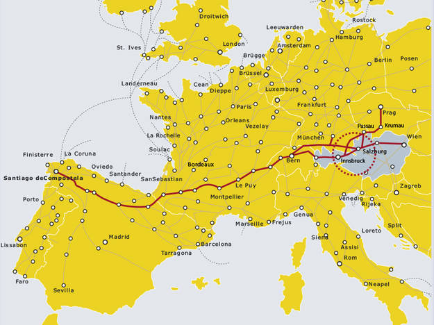 jakobsweg-europakarte