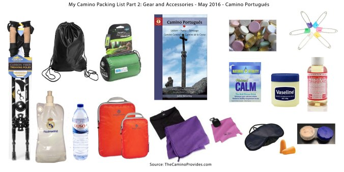 My Camino Packing List, Part 2: Gear and Accessories