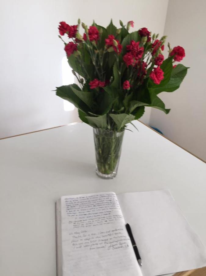 Roses and guest book