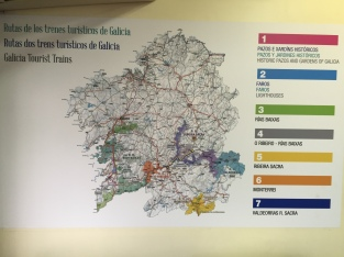 Map of all the Galicia Tourist trains