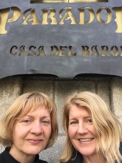 Karin and I at the Parador