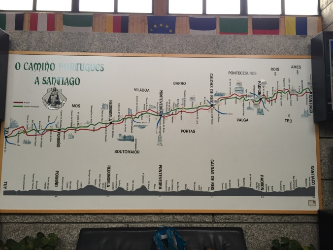 Map of the Camino Portugues