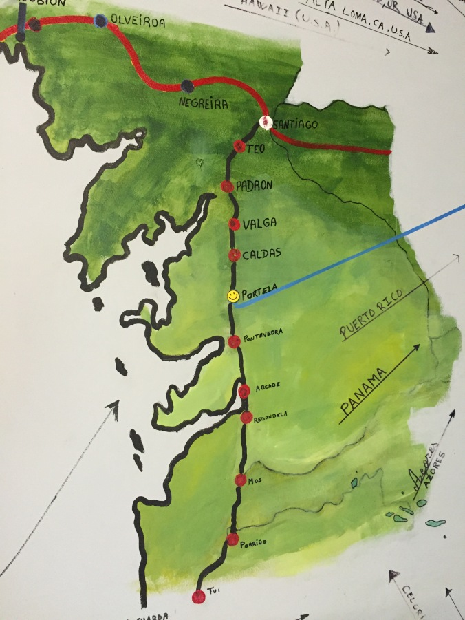 Map of Camino Portugues