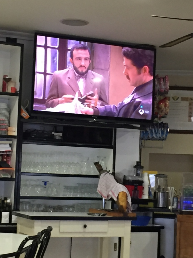 Spanish telenovela and jamón