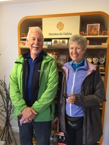 This couple from Canada just finished a Camino tour led by Sue Regan Kenney, Camino coach and founder of Barebottom Shoes