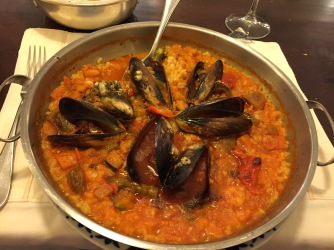 Delicious and generous portion of Paella.