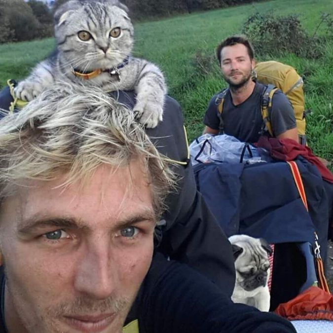 Sebastian and Finn, Pug and Cat