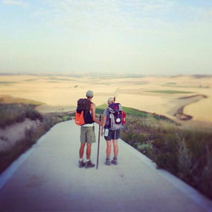 Loni & Kjartan on the Camino
