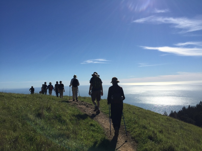Marching along the Coastal Trail, Mt. Tamalpais
