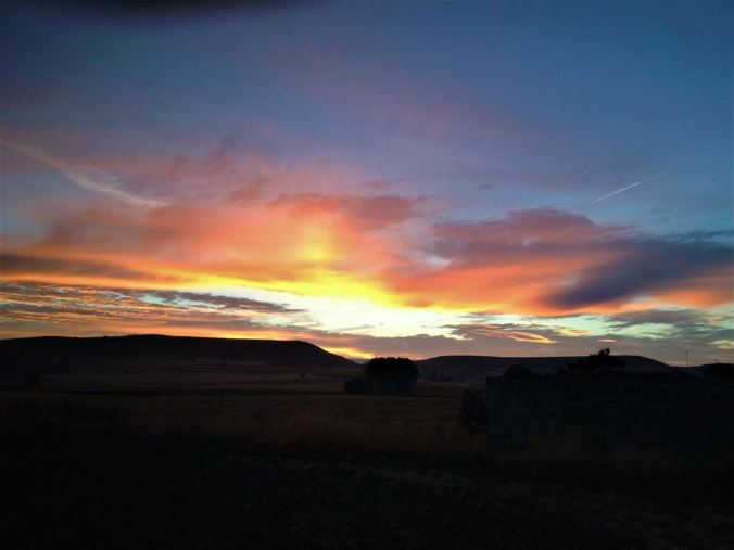 A Camino Sunrise: One of the reasons for Pierre's early morning start