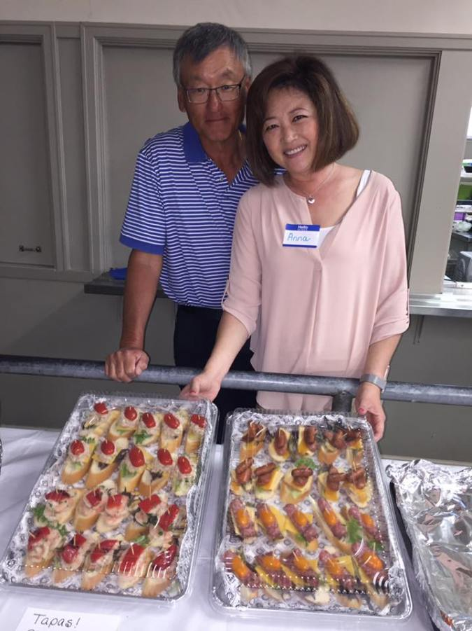 Francis and Anna Kim are ready to serve! They prepared these delicious tapas for our pilgrim blessing and potluck on March 18, 2017.