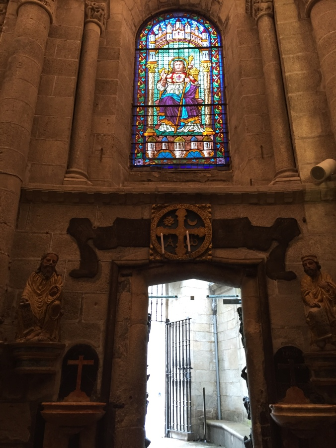 View of Puerta Santa from inside the Cathedral