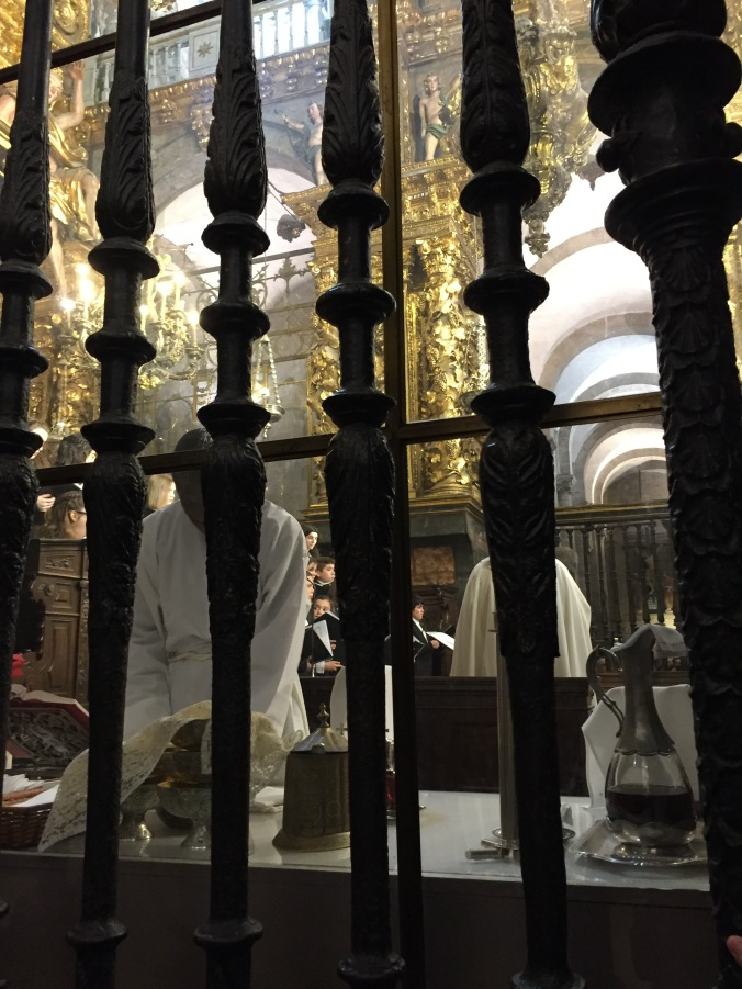 From where I stood, I could see the choir and priests doing preparations for the eucharist