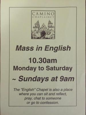 Mass in English flyer
