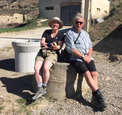 Felicia & Bernhard; German Pilgrim friends