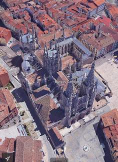 "David said, ""Burgos Cathedral from the helicopter."" PS: Just kidding about the helicopter:). Google Earth."
