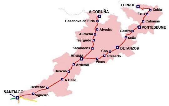 Camino Ingles route
