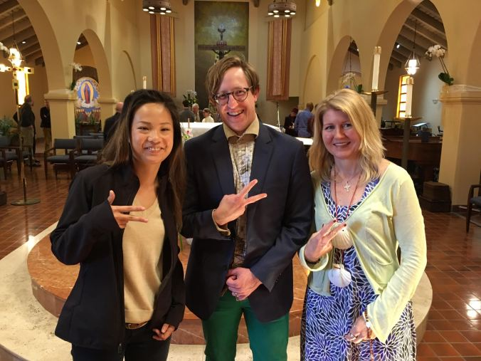 Peace, out. The three amigos survived adult confirmation.