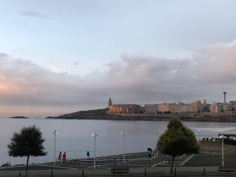 View of Tower of Hercules in the distance