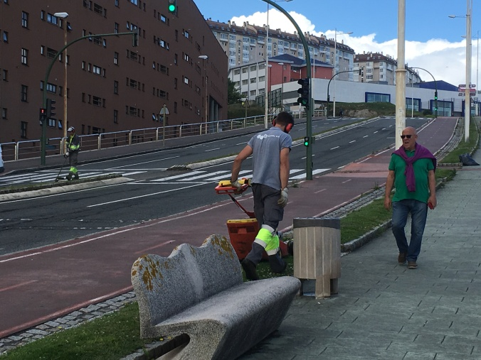 I loved how clean the streets and sidewalks are in A Coruña. Great bike lanes too!
