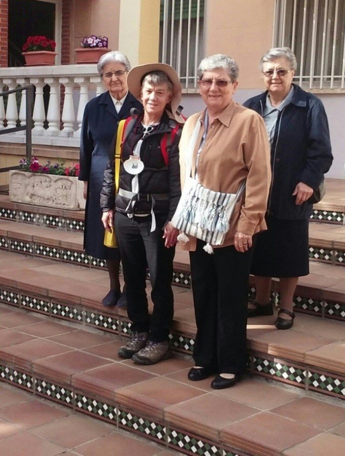 Send-off in Madrid by my ASC Sisters (Adorers of the Blood of Christ) before I began the Camino