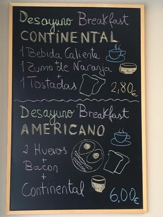 Breakfast sign at Maragoto