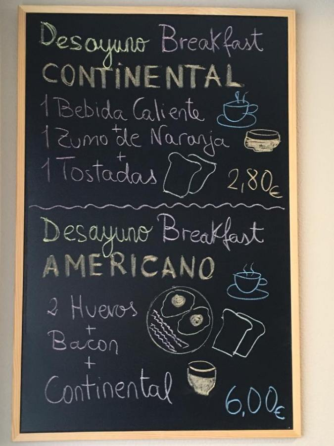 Breakfast sign at Maragoto