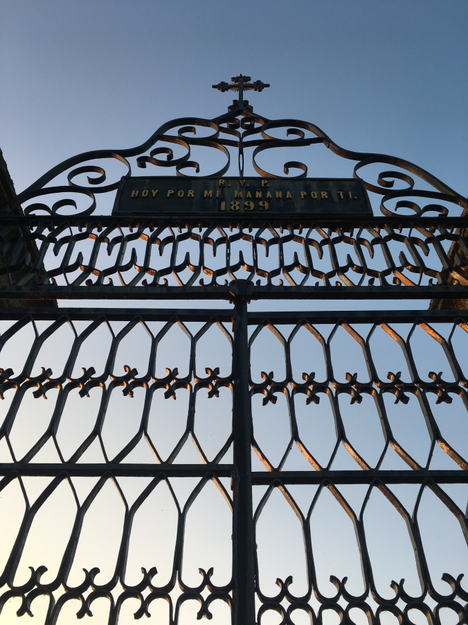 Pretty iron gate to the graveyard
